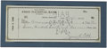 "Autographs:Checks, 1959 Ty Cobb Signed Check. The great Ty Cobb takes to the friendly skies as he pens a payment to ""American Air Lines"" for t..."
