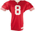 Football Collectibles:Uniforms, 1995 Steve Young Game Worn Jersey. From a season that saw the Hall of Fame quarterback post 3,200 passing yards and twenty ...