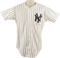 Baseball Collectibles:Uniforms, 1985 Phil Niekro Game Worn Jersey. The most successful knuckleball pitcher of all time, with 318 victories to his credit, N...