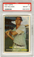 Baseball Cards:Singles (1950-1959), 1957 Topps Ted Williams #1 PSA NM-MT 8. The Splendid Splinter'sleads off the '57 Topps issue with a #1 card that would be ...