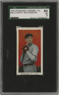 Baseball Cards:Singles (Pre-1930), 1910 E93 Standard Caramel Co. Christy Mathewson SGC 60 EX 5. Thiswas one of the most dominant pitchers of his era. Christy ...