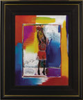 Basketball Collectibles:Others, Michael Jordan Signed Peter Max Lithograph with Remarque. The acclaimed pop artist Max, whose bright, vibrant style has gar...