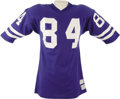 Football Collectibles:Uniforms, 1972-74 Jack Snow Game Worn Jersey. An All-American receiver out of Notre Dame, Snow went on to a solid eleven-year profess...