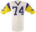Football Collectibles:Uniforms, 1976 Merlin Olsen Game Worn Jersey. Number twenty-five on The Sporting News' 1999 rankings of the 100 Greatest Football...
