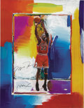 Basketball Collectibles:Others, Michael Jordan Signed Peter Max Lithograph. Limited edition (110/423) lithograph proves that Leroy Neiman isn't the only sk...