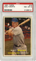 Baseball Cards:Singles (1950-1959), 1957 Topps Walt Moryn #16 PSA NM-MT 8. There have been 253 Walt Moryn #16 cards submitted to PSA at the time of this writin...