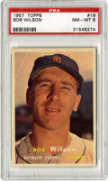 Baseball Cards:Singles (1950-1959), 1957 Topps Bob Wilson #19 PSA NM-MT 8. Bob Wilson is seen here for his lofty #19 entry. PSA has given the visual gem a com...