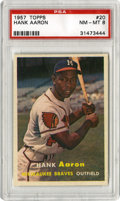 Baseball Cards:Singles (1950-1959), 1957 Topps Hank Aaron #20 PSA NM-MT 8. Hammerin' Hank shines in oneof the more impressive examples of his #20 card that yo...