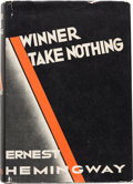 Books:Literature 1900-up, Ernest Hemingway. Winner Take Nothing. New York: CharlesScribner's Sons, 1933....