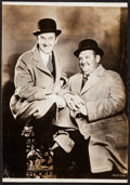 "Movie Posters:Comedy, Laurel and Hardy (MGM, 1930s). Portrait Photo (9.5"" X 13.5""). Comedy.. ..."