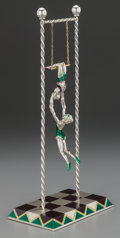 Silver Smalls:Other , A TWO-PART TIFFANY & CO. SILVER AND ENAMEL CIRCUS TRAPEZEGROUP, Designed by Gene Moore, New York, New York, circa 1990.Mar... (Total: 2 )