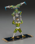 Silver & Vertu:Smalls & Jewelry, A THREE-PART TIFFANY & CO. SILVER, SILVER GILT AND ENAMEL CIRCUS ACROBAT GROUP, Designed by Gene Moore, New York, New York, ... (Total: 3 Items)