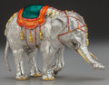 Silver & Vertu:Smalls & Jewelry, A TIFFANY & CO. SILVER AND ENAMEL CIRCUS ELEPHANT, Designed by Gene Moore, New York, New York, circa 1990. Marks: TIFFANY ...
