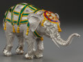 Silver Smalls:Other , A TIFFANY & CO. SILVER AND ENAMEL CIRCUS ELEPHANT, Designed byGene Moore, New York, New York, circa 1990. Marks: TIFFANY...