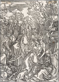Books:Prints & Leaves, Albrecht Dürer. The Deposition, from The Large Passion. [n.d., circa 1496-1497].. ...