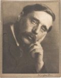 Books:Prints & Leaves, [H. G. Wells]. Alvin Langdon Coburn. SIGNED. Photogravure Portraitof H. G. Wells from Men of Mark. [likely London &...