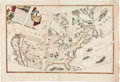 Books:Maps & Atlases, [Map]. [Vincenzo Maria Coronelli]. Globe Gore Map Depicting NorthAmerica. [N.p., circa 1699]....
