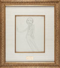 Books:Manuscripts, Max Beerbohm. Original Pencil Sketch of Edmond Rostand. [circa1908]....