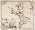 Books:Maps & Atlases, [Map of North and South America]. Carol Allard. RecentissimaNovi Orbis, Sive Americae Septentrionalis et Meridionalis T...