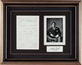 Books:Manuscripts, Oscar Wilde. Autograph Letter Signed. On Lyric Club stationery,undated....