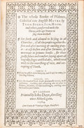 Books:Religion & Theology, [Book of Psalms]. The Whole Booke of Psalmes, Collected intoEnglish Metre... London: John Daye, 1584. ...