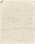 Books:Manuscripts, D.H. Lawrence. Holograph Manuscript of Pictures on the Wall.[n.d., circa 1929]....