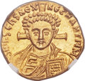 Ancients:Byzantine, Ancients: Justinian II Rhinotmetus, second reign (AD705-711). AV solidus (20mm, 4.32 gm, 6h). ...