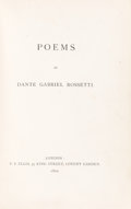 Books:Literature Pre-1900, Dante Gabriel Rossetti. Poems [and] Ballads andSonnets. London: F. S. Ellis [and] Ellis and White, 187...(Total: 2 Items)