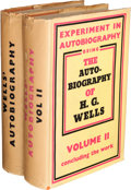 Books:Biography & Memoir, H. G. Wells. Experiment in Autobiography. Discoveries and Conclusions of a Very Ordinary Brain (Since 1866). Lon...