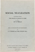 Books:Science Fiction & Fantasy, H. G. Wells. Social Nucleation. An Extract from 'The Shape of Things to Come' ... With an Introduction and Bibliog...