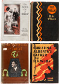 Books:Literature 1900-up, H. G. Wells. Group of Four First U. S. Edition Books in OriginalDust Jackets. Published in New York by Macmillan and Co.... (Total:4 Items)