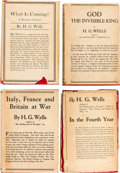 Books:Literature 1900-up, H. G. Wells. Group of Four First U. S. Edition Books in DustJackets. Published in New York by Macmillan and Co.... (Total: 4Items)