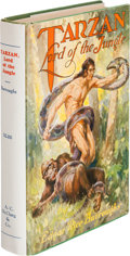 Books:Fiction, Edgar Rice Burroughs. Tarzan Lord of the Jungle. Chicago: A.C. McClurg & Co., 1928. First edition. Octavo. [viii], ...