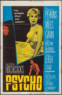 "Psycho (Paramount, 1960). One Sheet (27"" X 41""). Hitchcock"
