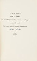 Books:Literature 1900-up, William Faulkner. The Reivers. A Reminiscence. New York:Random House, [1962]. First edition, first printing. ...
