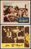 "Movie Posters:Western, Rocky Mountain & Others Lot (Warner Brothers, 1950). LobbyCards (2) (11"" X 14"") & One Sheet (27"" X 41""). Western.. ...(Total: 3 Items)"
