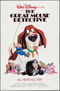 """Movie Posters:Animation, The Great Mouse Detective & Others Lot (Buena Vista, 1986). One Sheet (27"""" X 41"""") & Lobby Cards (2) (11"""" X 14""""). Animation.... (Total: 3 Items)"""