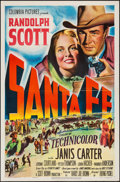 "Movie Posters:Western, Santa Fe (Columbia, 1951). One Sheet (27"" X 41""). Western.. ..."