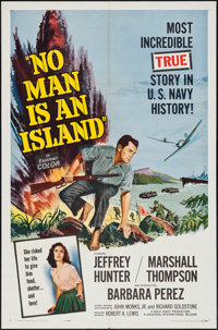 "No Man is an Island & Other Lot (Universal International, 1962). One Sheets (2) (27"" X 41""). War..."