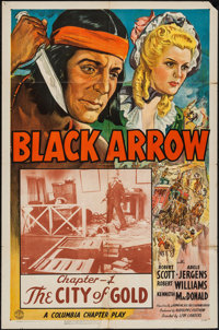 "Black Arrow (Columbia, 1944). One Sheet (27"" X 41"") Chapter 1 -- ""The City of Gold."" Serial"