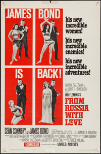 "From Russia with Love (United Artists, 1964). One Sheet (27"" X 41"") Style B. James Bond"