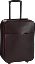 """Luxury Accessories:Travel/Trunks, Louis Vuitton Mahogany Taiga Leather Pegase 45 Suitcase. VeryGood Condition. 13.5"""" Width x 18"""" Height x 7"""" Depth. ..."""