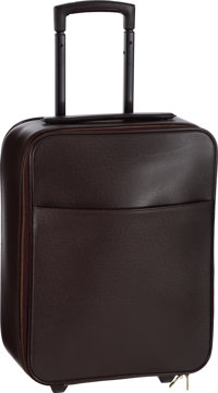 "Louis Vuitton Mahogany Taiga Leather Pegase 45 Suitcase Very Good Condition 13.5"" Width x 18"" Hei"