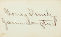 "Autographs:Military Figures, Confederate General James Longstreet Signature. 3.75"" x 2.25"". In full: ""Yours Truly / James Longstreet.""..."