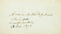 """Autographs:Statesmen, Confederate Vice President Alexander H. Stephens Card Signed. 4"""" x2.25"""", February 23, 1873. After the war, Stephens (1812-1..."""