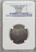 1652 SHILNG Oak Tree Shilling, IN at Bottom -- Damaged -- NGC Details. VF. Noe-12, W-510, Salmon 9a-Fii, High R.6....(PC...