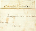"Autographs:Statesmen, [Nineteenth Century Politicians]. Two Signatures including: CharlesSumner Clipped Signature. 3.5"" x 1"". Sumner (1811-18... (Total: 2Items)"