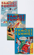 Golden Age (1938-1955):Miscellaneous, Famous Funnies Group (Eastern Color, 1943-49) Condition: Average VF.... (Total: 9 Comic Books)