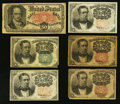 Fractional Currency:Fifth Issue, An Assortment of Six Fifth Issue Fractional Notes.. ... (Total: 6notes)