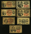 Fractional Currency:Fifth Issue, A Varied Selection of Seven Fractional Notes.. ... (Total: 7 notes)